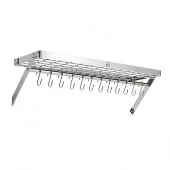 Hahn Premium Collection XL Chrome Rectangular Wall Rack 40807