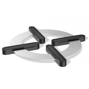 Zack Tappo Brushed Stainless Steel Table Trivet 20338