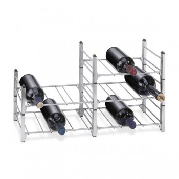 Zack Aldo Brushed Stainless Steel Bottle Rack (Base Module) 20543