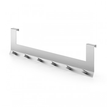 Zack Domo Brushed Stainless Steel Cabinet Door Hook Rack 20678