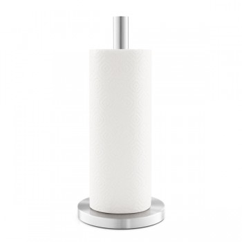 Zack Cuna Brushed Stainless Steel Kitchen Roll Holder 20705
