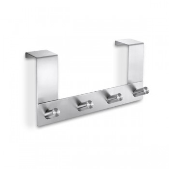 Zack Exit Brushed Stainless Steel 34-41mm Non-Rebated Door Hook Rack 20754
