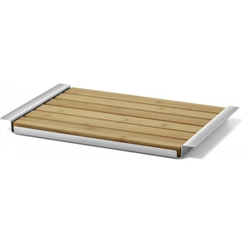 Zack Panas Bread Board with Brushed Stainless Steel Tray 20872