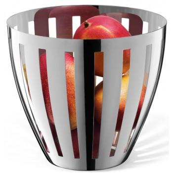 Zack Vitor Polished Stainless Steel Fruit Basket 30713
