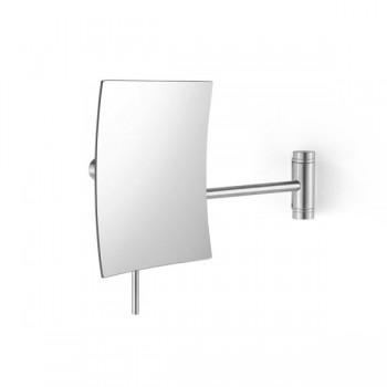 Zack Xero Brushed Stainless Steel 5:1 Swivelling Wall Mirror 40021