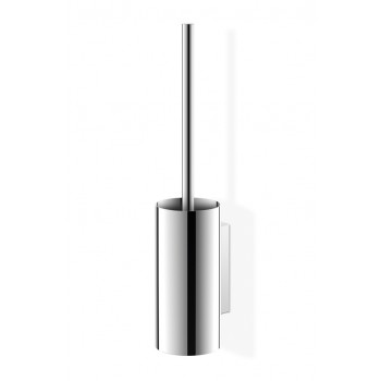 Zack Linea Polished Stainless Steel Wall Toilet Brush Set 40026