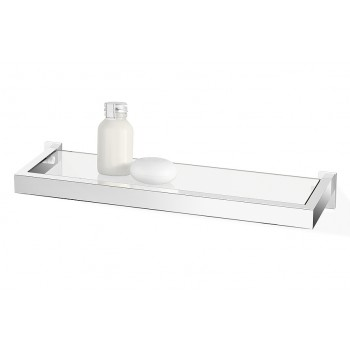 Zack Linea Polished Stainless Steel 45cm Bathroom Shelf 40029