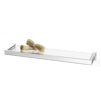 Zack Linea Polished Stainless Steel 60cm Bathroom Shelf 40030