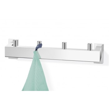 Zack Linea Polished Stainless Steel Towel Hook Rail 40035