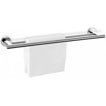 Zack Scala Polished Stainless Steel Double Towel Rail 40059