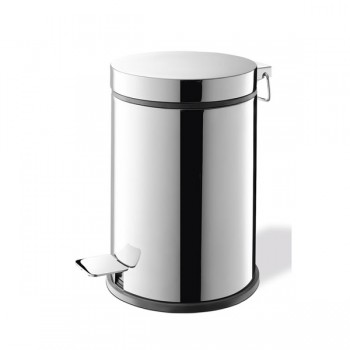 Zack Vasca Polished Stainless Steel 27cm Pedal Bin 40066
