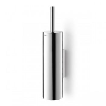 Zack Tubo Polished Stainless Steel Wall Toilet Brush Set 40068