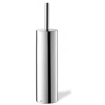 Zack Tubo Polished Stainless Steel Toilet Brush Set 40069