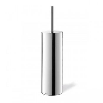 Zack Cylindro Polished Stainless Steel Toilet Brush Set 40070