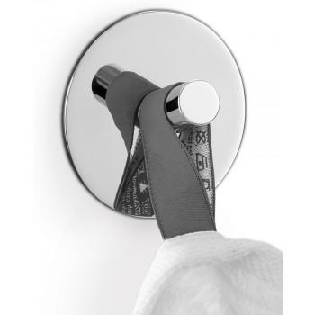 Zack Duplo Polished Stainless Steel Circular Towel Hook 40072