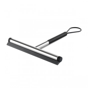 Zack Jaz Polished Stainless Steel Short Handle Squeegee 40082