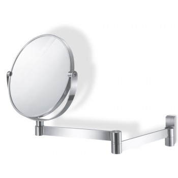 Zack Linea Brushed Stainless Steel Magnifying Wall Mirror 40109
