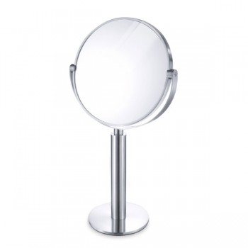 Zack Felice Brushed Stainless Steel Magnifying Mirror 40114