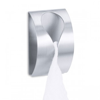 Zack Genio Brushed Stainless Steel Self-Adhesive Towel Clip 40121