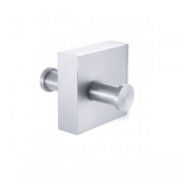 Zack Fresco Brushed Stainless Steel Double Towel Hook 40158