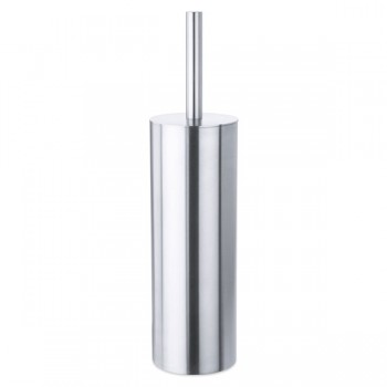 Zack Cylindro Brushed Stainless Steel Toilet Brush Set 40184