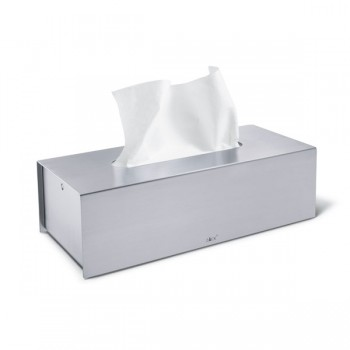 Zack Puro Brushed Stainless Steel Tissue Box 40231