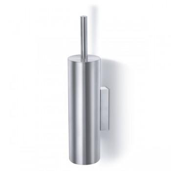 Zack Tubo Brushed Stainless Steel Wall Toilet Brush Set 40244
