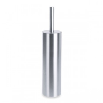 Zack Tubo Brushed Stainless Steel Toilet Brush Set 40284
