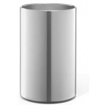 Zack Lintor Brushed Stainless Steel Bathroom Waste Basket 40319
