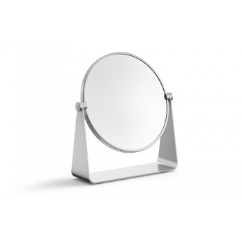Zack Tarvis Brushed Stainless Steel Magnifying (3x) Cosmetic/Shaving Mirror 40357