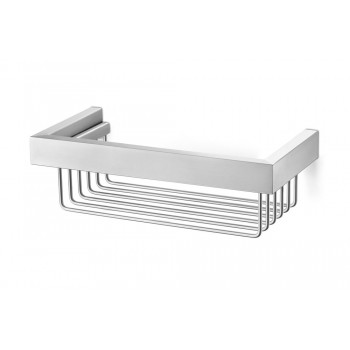 Zack Linea Brushed Stainless Steel Shower Basket 40371