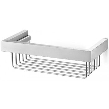 Zack Linea Brushed Stainless Steel Shower Basket 40371
