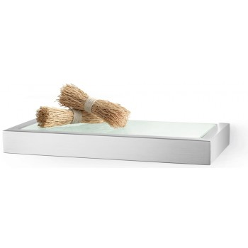 Zack Linea Brushed Stainless Steel 26.5cm Bathroom Shelf 40383