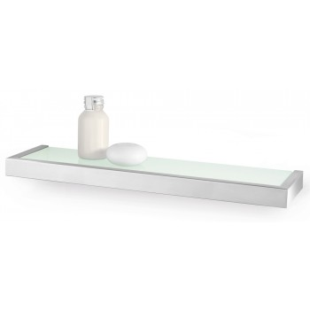 Zack Linea Brushed Stainless Steel 46.5cm Bathroom Shelf 40384