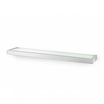 Zack Linea Brushed Stainless Steel 61.5cm Bathroom Shelf 40385