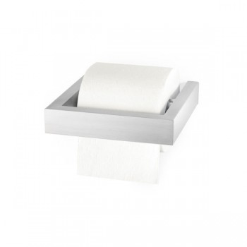 Zack Linea Brushed Stainless Steel Toilet Roll Holder 40386E