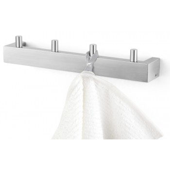 Zack Linea Brushed Stainless Steel Towel Hook Rail 40389