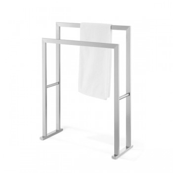 Zack Linea Brushed Stainless Steel Towel Stand 40394