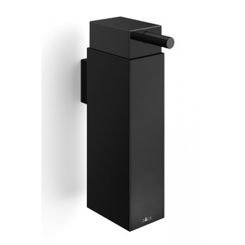 Zack Linea Powder Coated Black Stainless Steel Wall Soap Dispenser 40405
