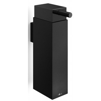 Zack Linea Powder Coated Black Stainless Steel Wall Soap Dispenser 40405