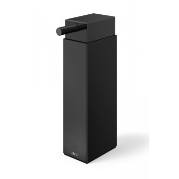 Zack Linea Powder Coated Black Stainless Steel Free Standing Soap Dispenser 40406