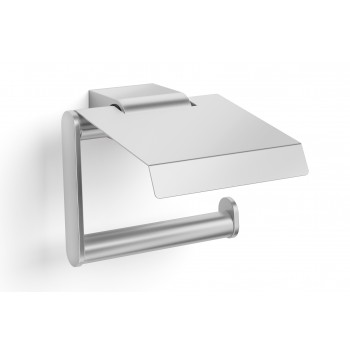 Zack Atore Brushed Stainless Steel Toilet Roll Holder with Lid 40415