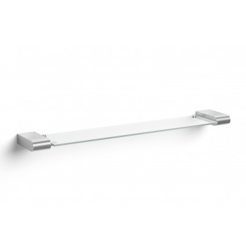 Zack Atore Brushed Stainless Steel & Toughened Glass Bathroom Shelf 40418