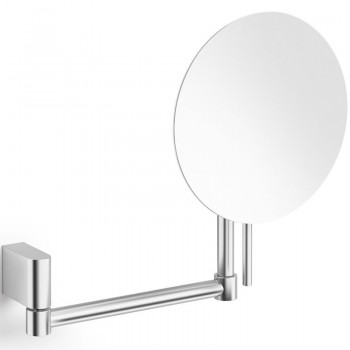 Zack Atore Brushed Stainless Steel Swivelling Wall 5:1 Cosmetic / Shaving Mirror 40430