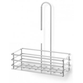 Zack Iparo Polished Stainless Steel 25.5cm Hanging Shower Basket 40439