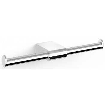 Zack Atore Polished Stainless Steel Double Toilet Roll Holder 40452