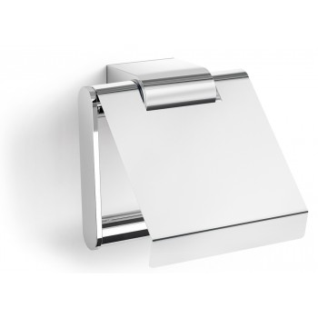 Zack Atore Polished Stainless Steel Toilet Roll Holder with Lid 40453