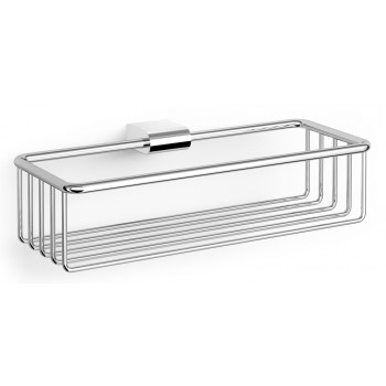 Zack Atore Polished Stainless Steel 28.8cm Wall Shower Basket 40463