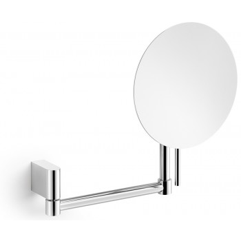 Zack Atore Polished Stainless Steel Swivelling Wall 5:1 Cosmetic / Shaving Mirror 40468