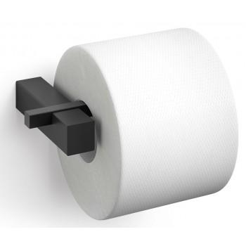 Zack Carvo Powder Coated Black Stainless Steel Toilet Roll Holder 40500
